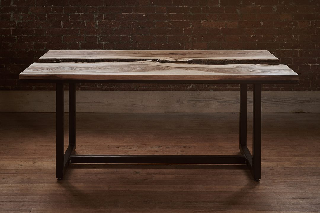 ELM & COPPER LIVE EDGE DINING TABLE